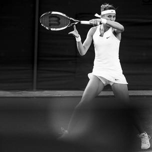 Lucie Safarova in Wimbledon whites by Nike Court