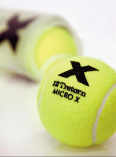 Tretorn MICRO X Pressureless Tennis Balls: They never go flat! Ideal for that emergency pop-up game. A little more bouncy than regular tennis balls, but great for friendly games, ball machines or practice.