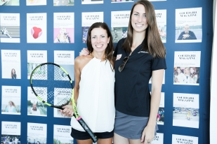 Raffle Winner of the BABOLAT Racquet signed by Genie Bouchard