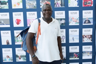 Photo op at the COURTGIRL Lifestyle Experience at the Mylan World TeamTennis Finals, Forest Hills Stadium