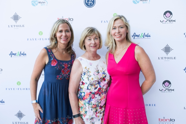 Tennis is a family affair with Tara Kirkwood, Jill Kelly and Mom, Dianne Kelly at the COURTGIRL Lifestyle Experience at the Mylan World TeamTennis Finals, Forest Hills Stadium