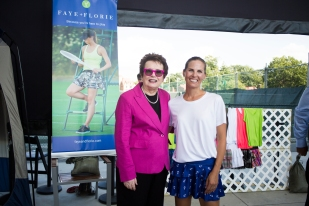 Billie Jean King with Faye & Florie founder
