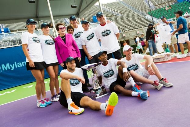San Diego Avaitors with Billie Jean King, founder of World TeamTennis